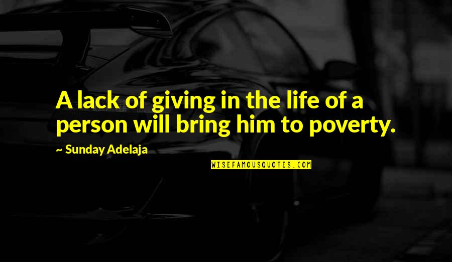 If A Man Cries Quotes By Sunday Adelaja: A lack of giving in the life of