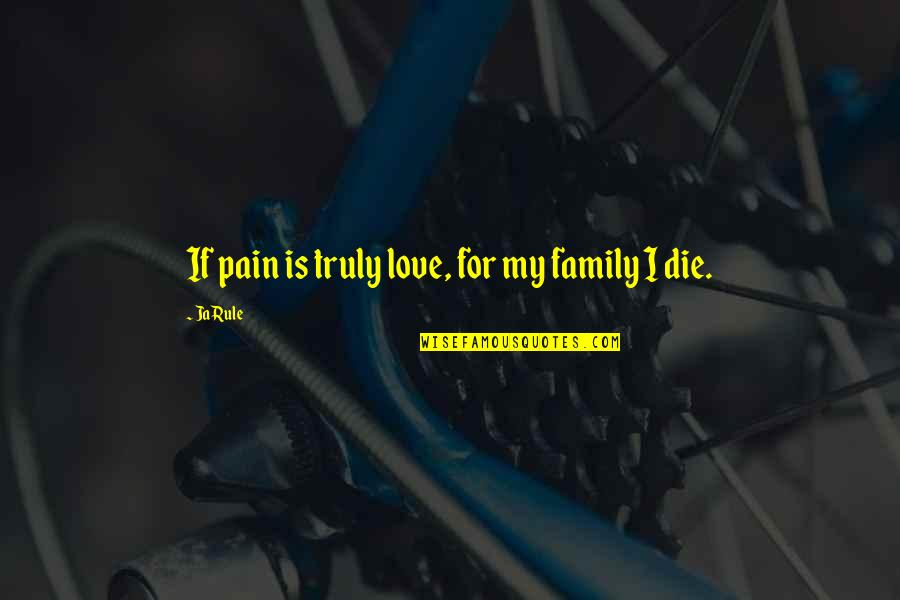 If I Die Love Quotes By Ja Rule: If pain is truly love, for my family