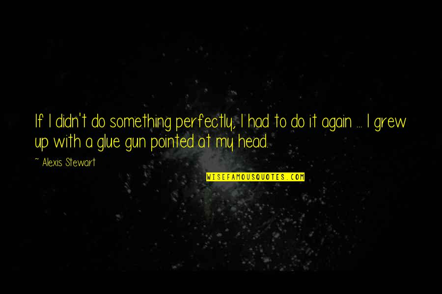 If I Had A Gun Quotes By Alexis Stewart: If I didn't do something perfectly, I had