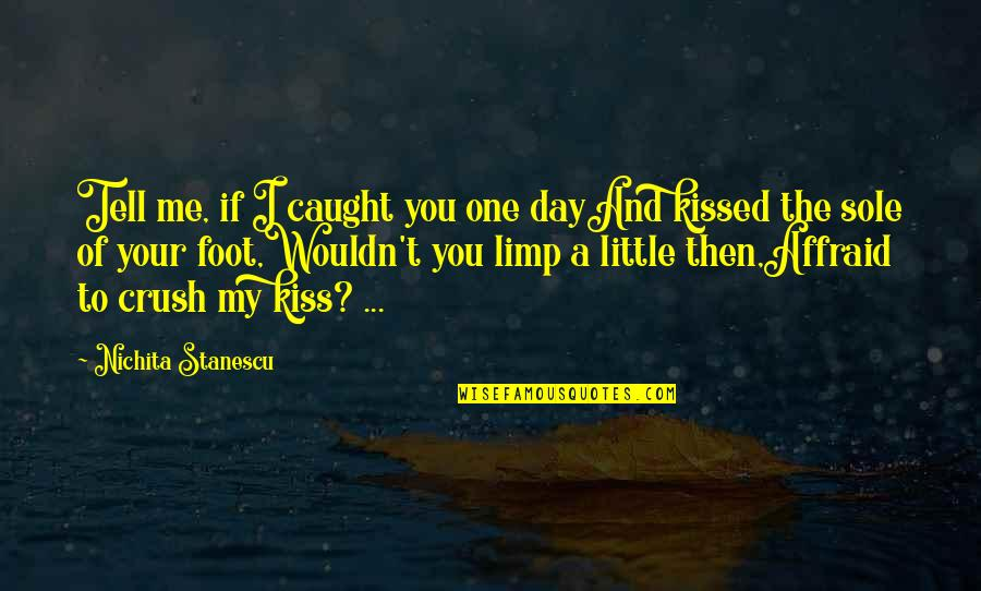 If I Kissed You Quotes By Nichita Stanescu: Tell me, if I caught you one dayAnd