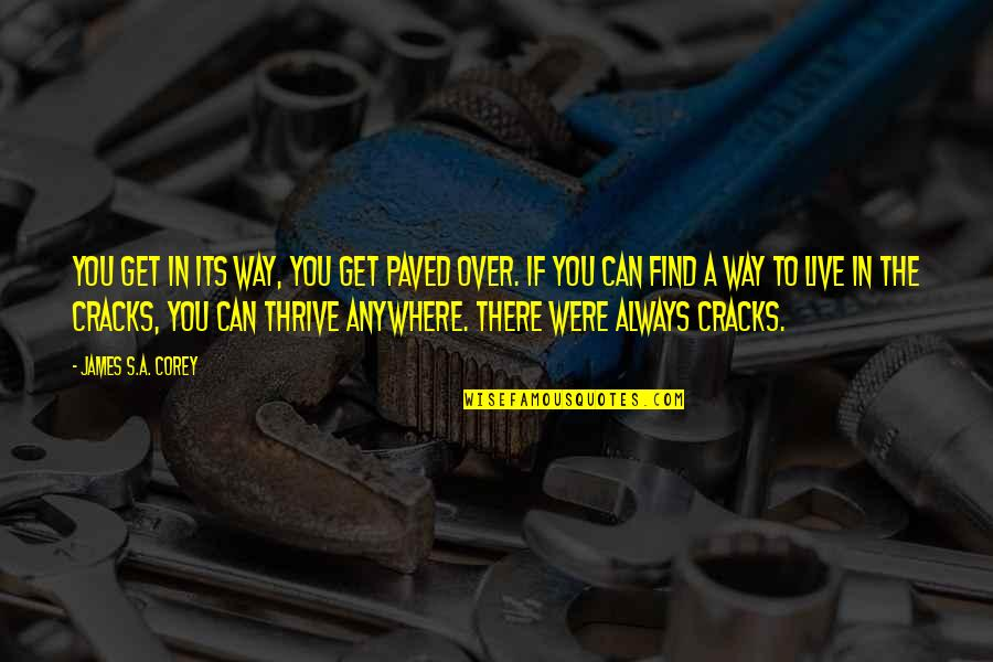 If Its Over Quotes By James S.A. Corey: You get in its way, you get paved
