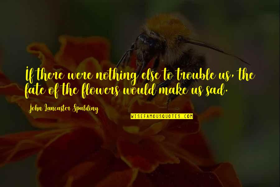 If Nothing Else Quotes By John Lancaster Spalding: If there were nothing else to trouble us,