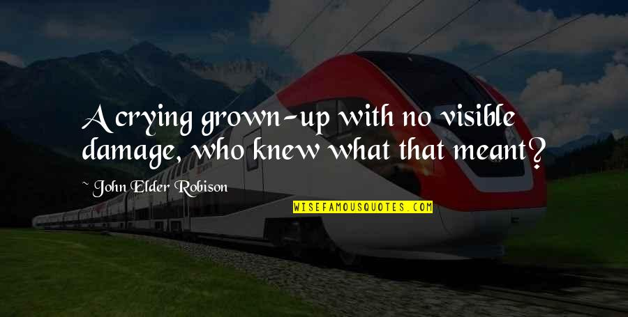 If We Are Meant To Be Quotes By John Elder Robison: A crying grown-up with no visible damage, who