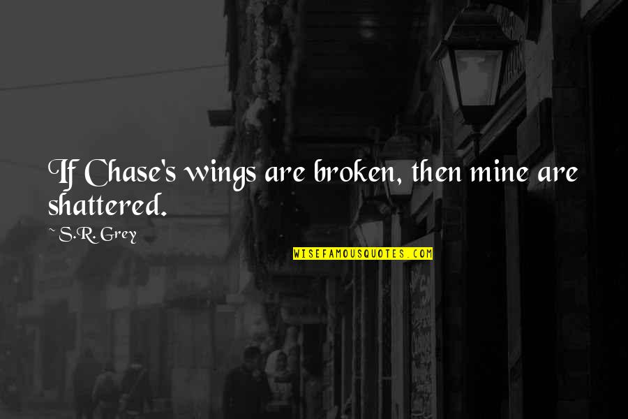 If You Are Mine Quotes By S.R. Grey: If Chase's wings are broken, then mine are