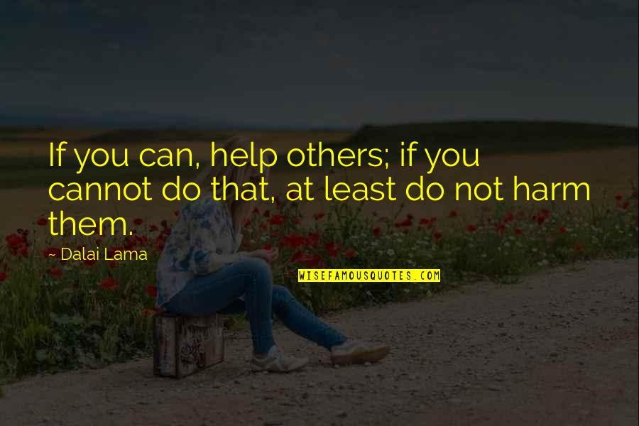 If You Can Help Quotes By Dalai Lama: If you can, help others; if you cannot
