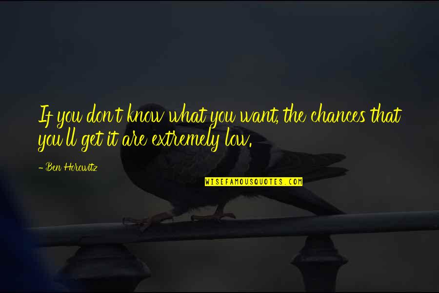If You Don't Know What You Want Quotes By Ben Horowitz: If you don't know what you want, the