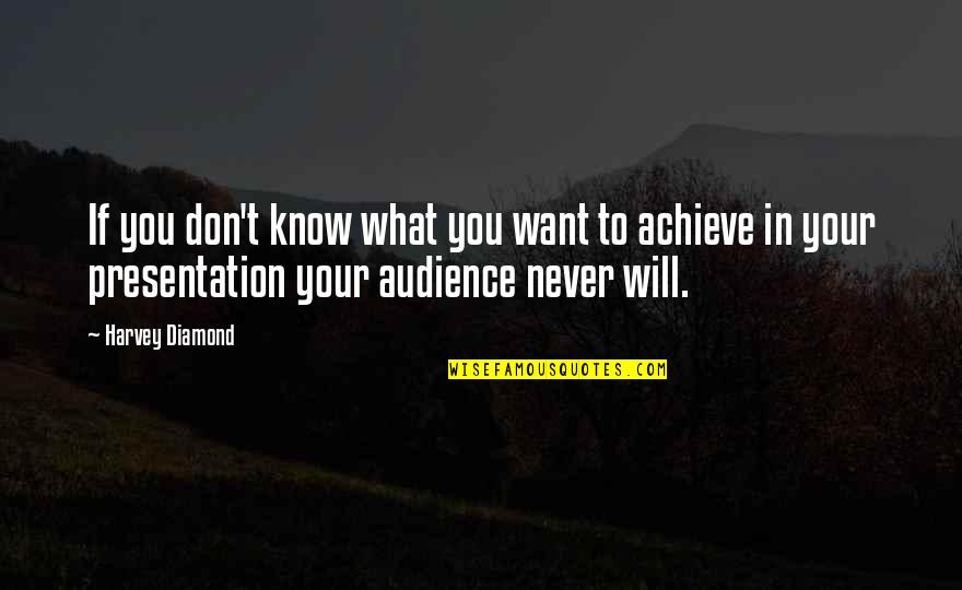 If You Don't Know What You Want Quotes By Harvey Diamond: If you don't know what you want to