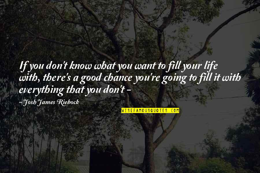 If You Don't Know What You Want Quotes By Josh James Riebock: If you don't know what you want to