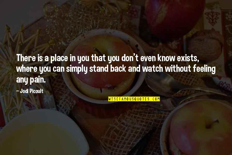 If You Don't Know Where You Stand Quotes By Jodi Picoult: There is a place in you that you