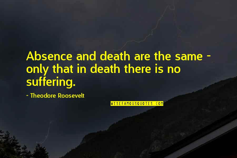 If You Don't Like Hunting Quotes By Theodore Roosevelt: Absence and death are the same - only