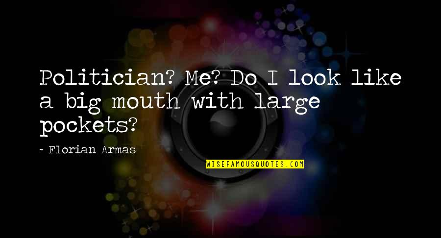 If You Really Like Me Quotes By Florian Armas: Politician? Me? Do I look like a big