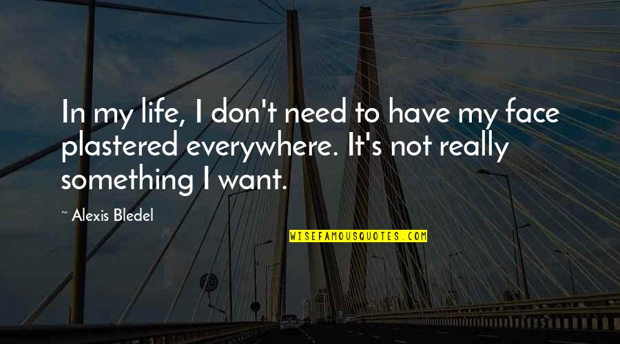If You Want Something In Life Quotes By Alexis Bledel: In my life, I don't need to have