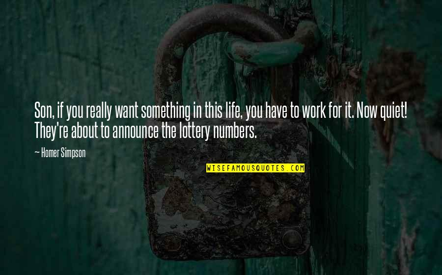 If You Want Something In Life Quotes By Homer Simpson: Son, if you really want something in this
