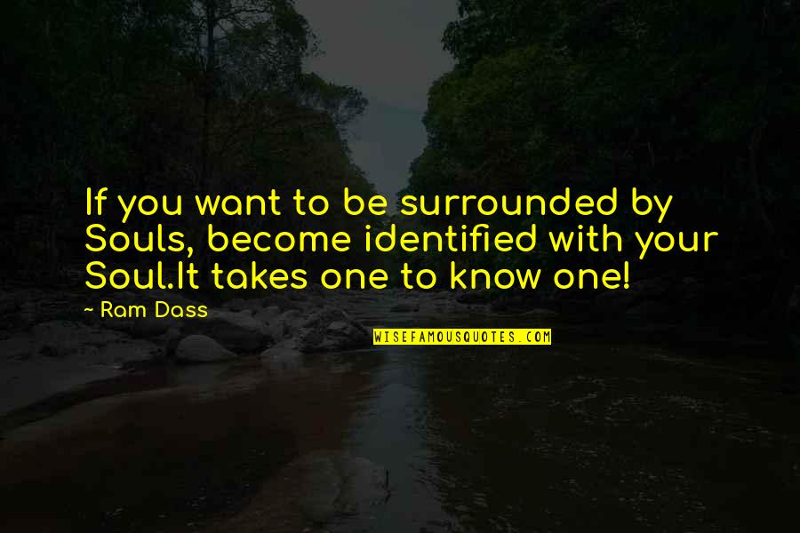 If You Want To Know Quotes By Ram Dass: If you want to be surrounded by Souls,