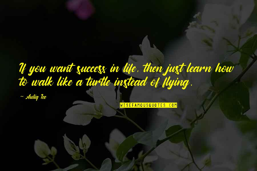 If You Want To Learn Quotes By Auliq Ice: If you want success in life, then just