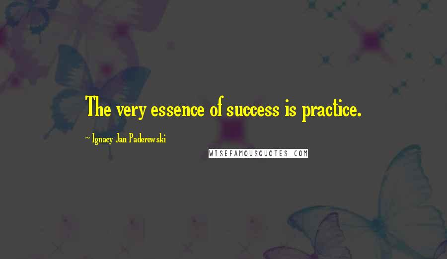 Ignacy Jan Paderewski quotes: The very essence of success is practice.