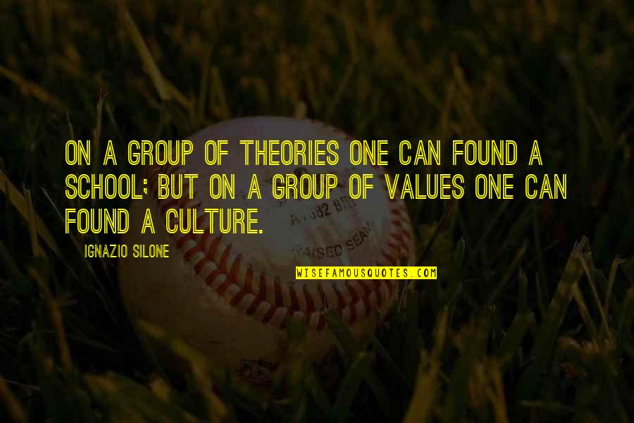 Ignazio Silone Quotes By Ignazio Silone: On a group of theories one can found