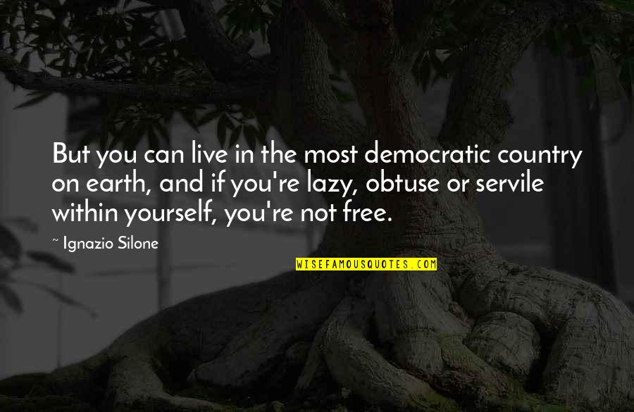 Ignazio Silone Quotes By Ignazio Silone: But you can live in the most democratic