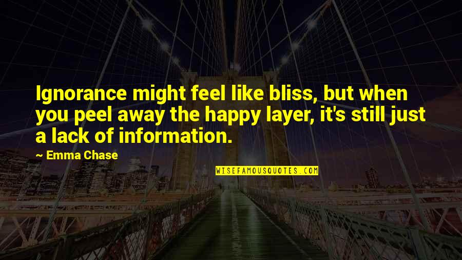 Ignorance And Bliss Quotes By Emma Chase: Ignorance might feel like bliss, but when you