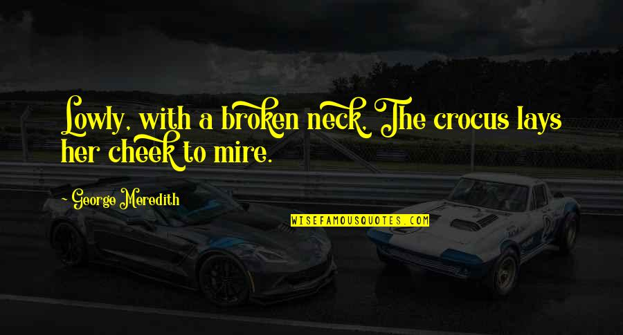 Ikaw Na Magaling Quotes By George Meredith: Lowly, with a broken neck, The crocus lays