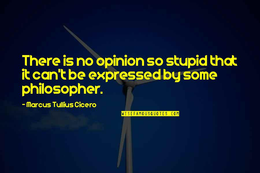 Ikaw Na Magaling Quotes By Marcus Tullius Cicero: There is no opinion so stupid that it