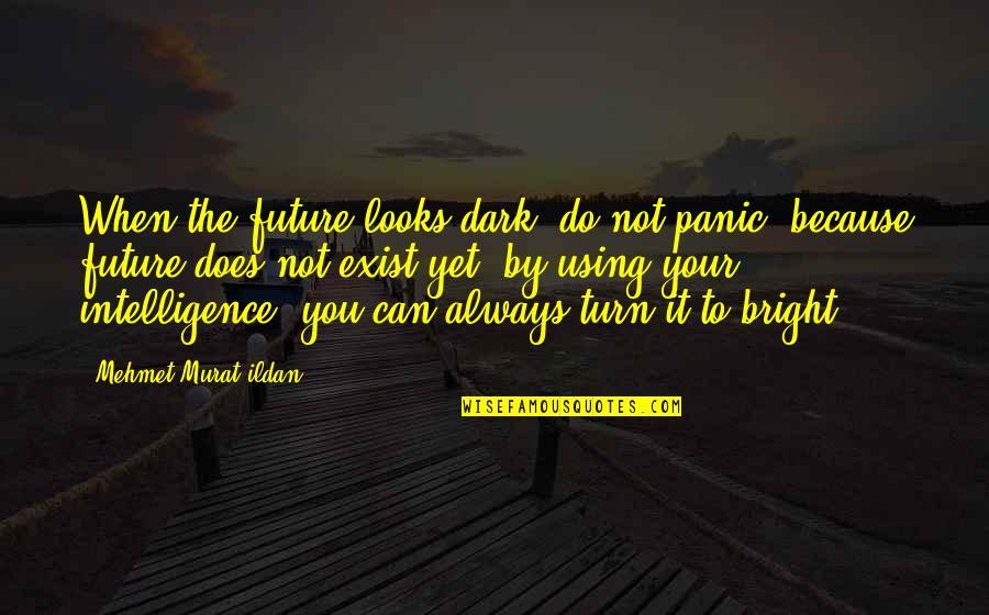 Ildan Quotes By Mehmet Murat Ildan: When the future looks dark, do not panic,