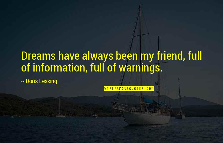 I'll Always Be There Best Friend Quotes By Doris Lessing: Dreams have always been my friend, full of