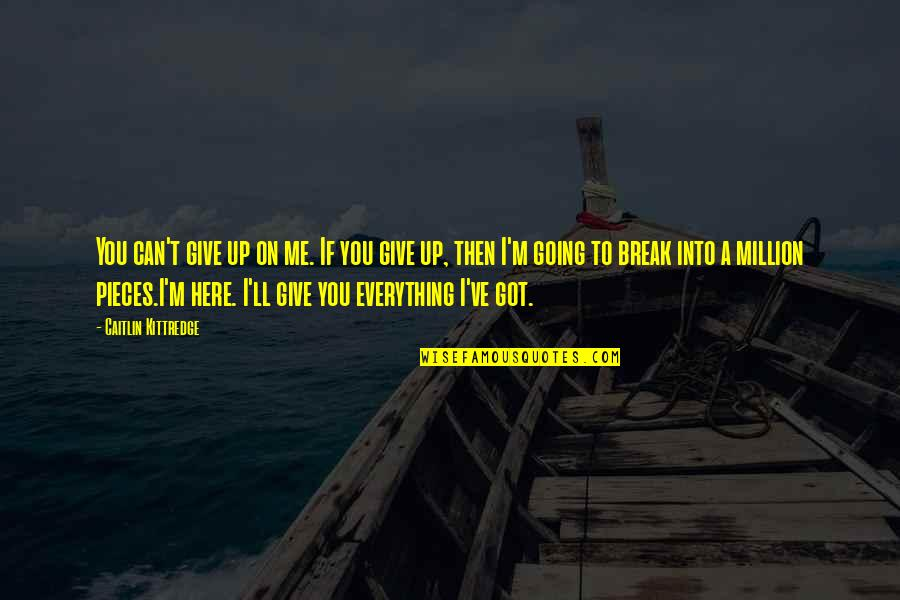 I'll Give You Everything Quotes By Caitlin Kittredge: You can't give up on me. If you