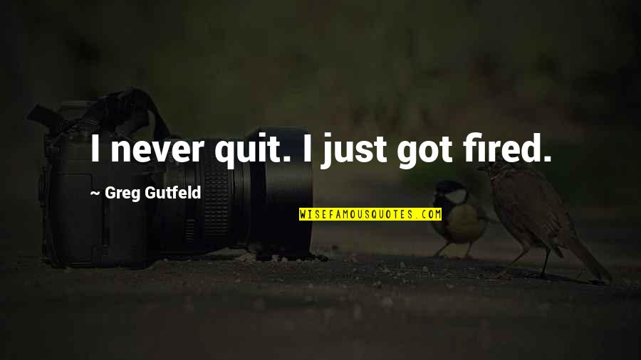 I'll Never Quit Quotes By Greg Gutfeld: I never quit. I just got fired.