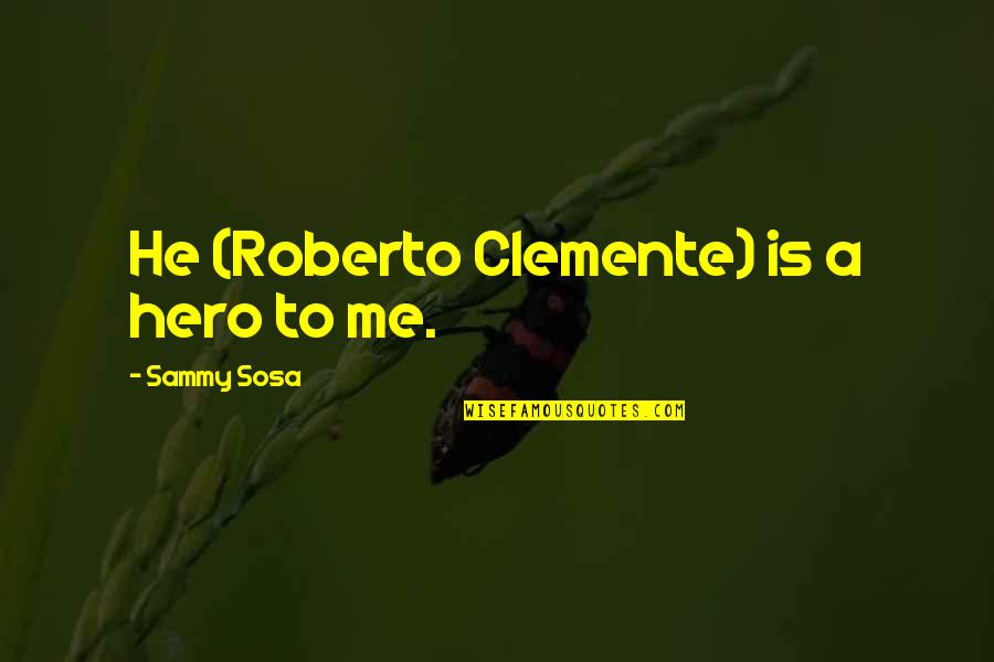 Illumintate Quotes By Sammy Sosa: He (Roberto Clemente) is a hero to me.