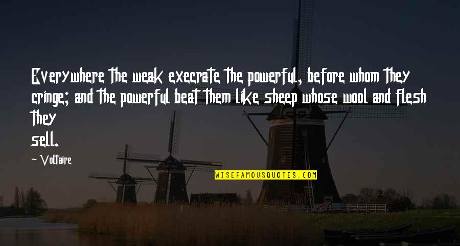 Im As Confused As Quotes By Voltaire: Everywhere the weak execrate the powerful, before whom