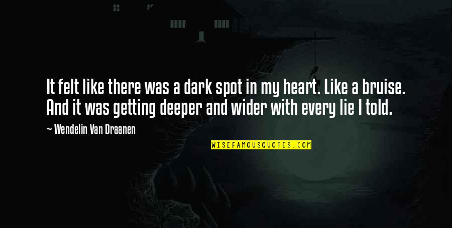 I'm Getting There Quotes By Wendelin Van Draanen: It felt like there was a dark spot
