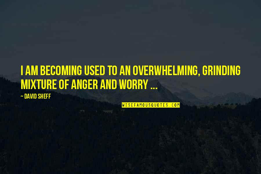 I'm Grinding Quotes By David Sheff: I am becoming used to an overwhelming, grinding