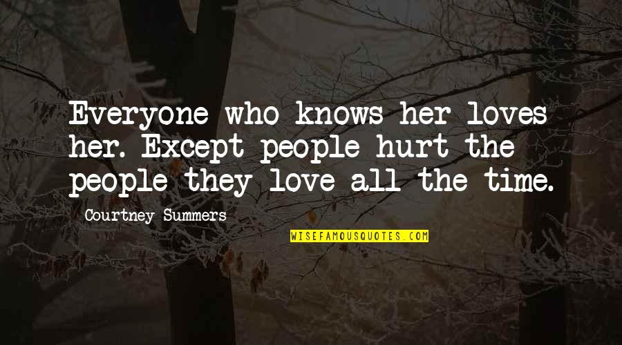 I'm Hurt But I Love You Quotes By Courtney Summers: Everyone who knows her loves her. Except people