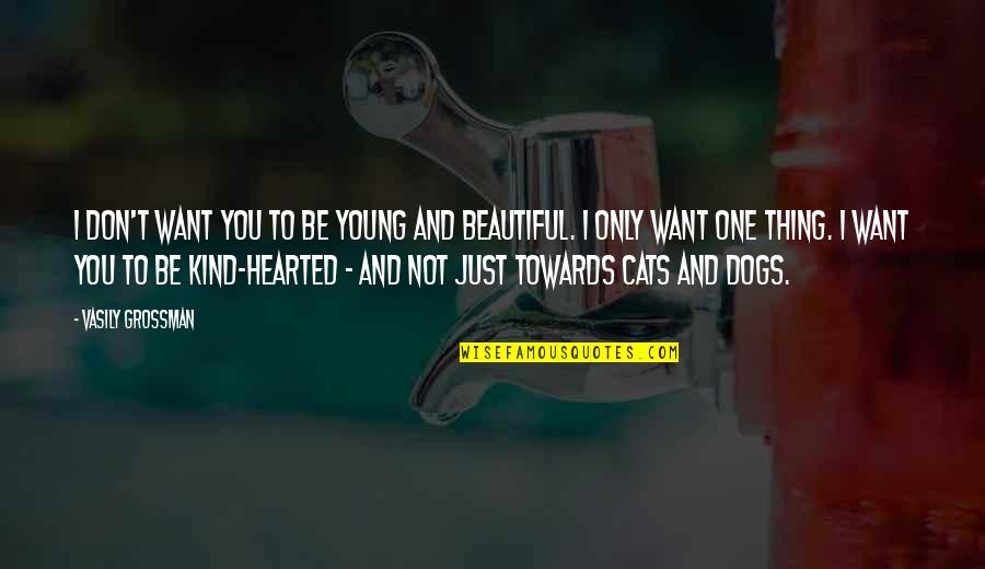 I'm Kind Hearted Quotes By Vasily Grossman: I don't want you to be young and