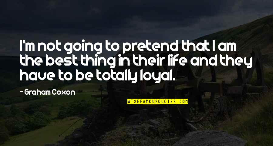 I'm Not The Best Quotes By Graham Coxon: I'm not going to pretend that I am