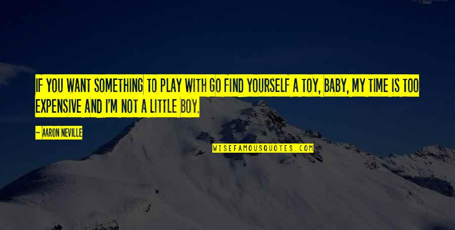 I'm Not Toy Quotes By Aaron Neville: If you want something to play with go