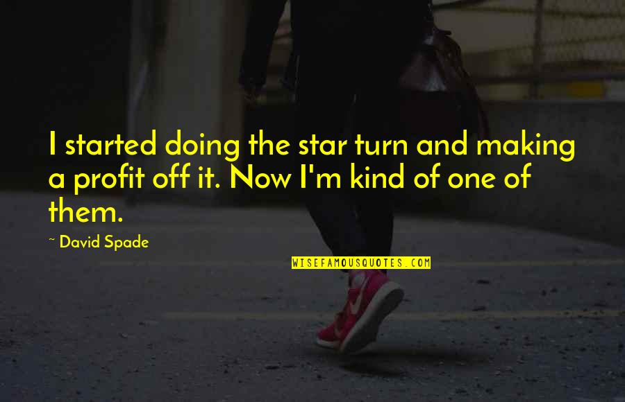 I'm One Of A Kind Quotes By David Spade: I started doing the star turn and making
