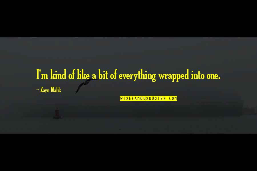 I'm One Of A Kind Quotes By Zayn Malik: I'm kind of like a bit of everything