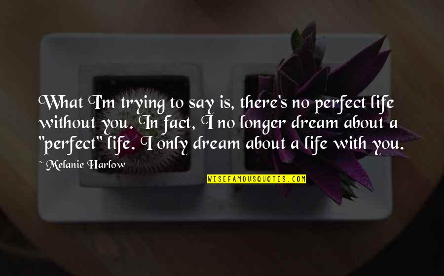 I'm Perfect Without You Quotes By Melanie Harlow: What I'm trying to say is, there's no