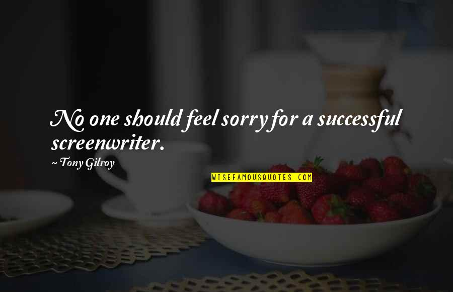 I'm Sorry If I'm Not There For You Quotes By Tony Gilroy: No one should feel sorry for a successful