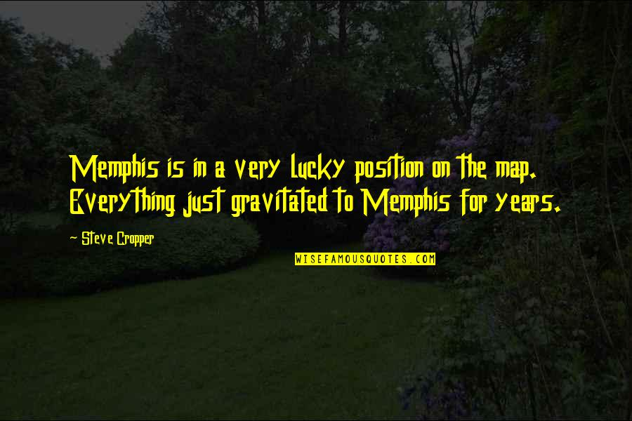 I'm Sorry Movie Quotes By Steve Cropper: Memphis is in a very lucky position on