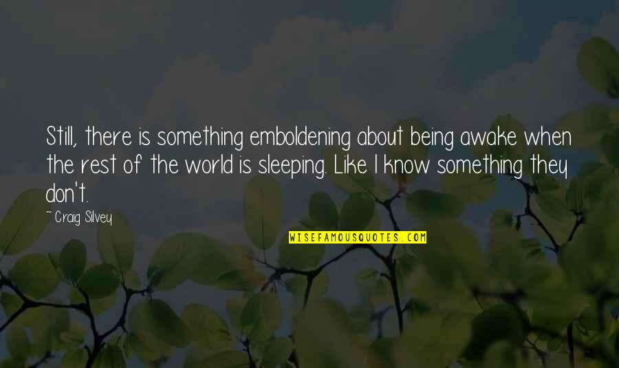 I'm Still Awake Quotes By Craig Silvey: Still, there is something emboldening about being awake