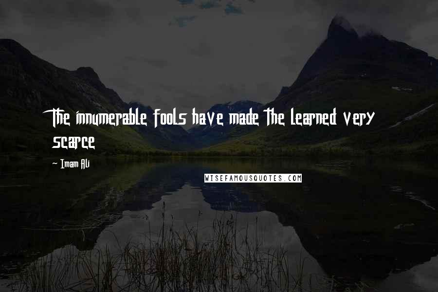 Imam Ali quotes: The innumerable fools have made the learned very scarce