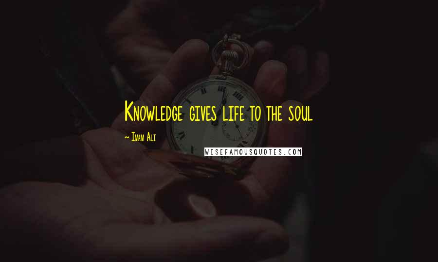 Imam Ali quotes: Knowledge gives life to the soul