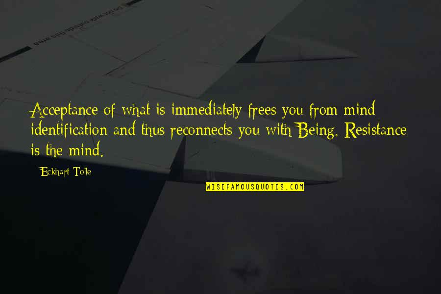 Immediately Quotes By Eckhart Tolle: Acceptance of what is immediately frees you from