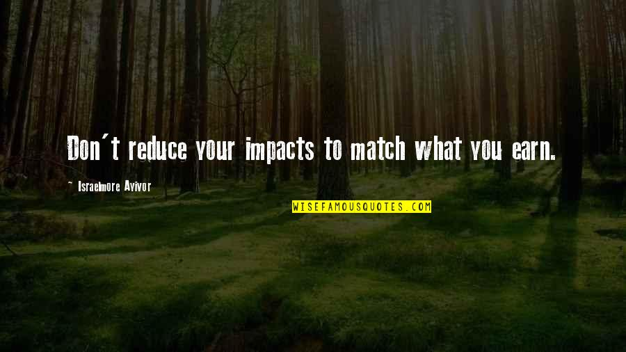 Impact Of Leadership Quotes By Israelmore Ayivor: Don't reduce your impacts to match what you