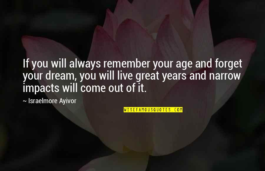 Impact Of Leadership Quotes By Israelmore Ayivor: If you will always remember your age and