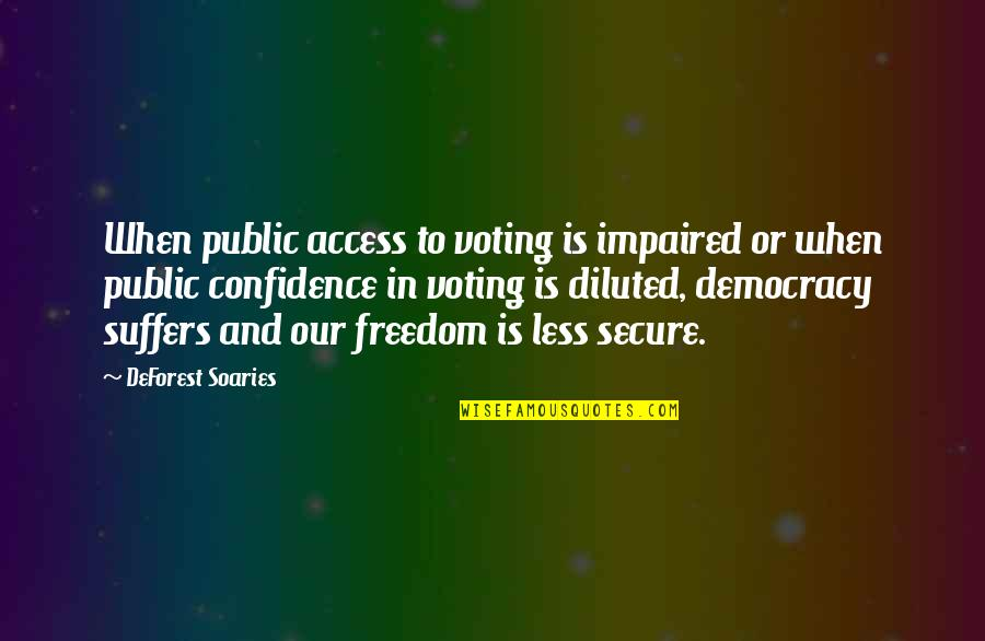 Impaired Quotes By DeForest Soaries: When public access to voting is impaired or