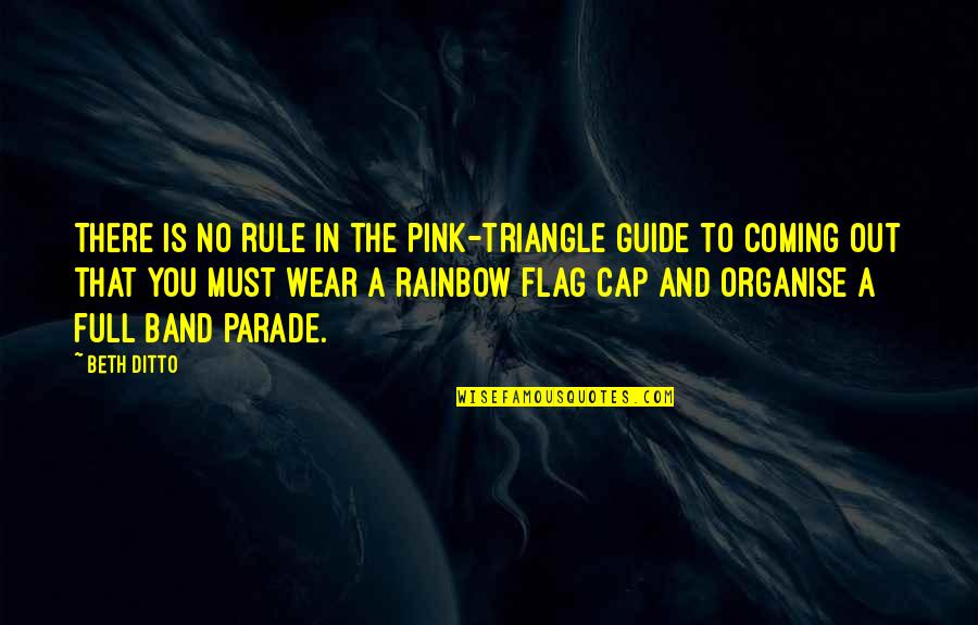 Impellers Quotes By Beth Ditto: There is no rule in the pink-triangle guide